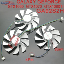 GA92S2H - PFTE 12V 0.35A 4Pin 85mm VGA Fan For GALAXY GEFORCE GTX1060 GTX1070 GTX1080 TI HOF Graphics Card Cooler Cooling Fan new 75mm t128010su cooler fan gigabyte aorus geforce gtx1070 1080ti g1 gtx1660 ti card cooler fans
