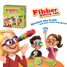 2 4 Players Liar Fibber Board Game Hilarious Noses Glasses Stretch The Truth Your Nose May