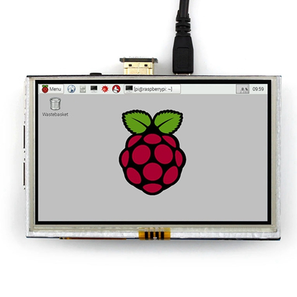 <font><b>5</b></font> <font><b>inch</b></font> LCD HDMI Touch Screen <font><b>Display</b></font> TFT LCD Panel Module 800*480 for Banana <font><b>Pi</b></font> <font><b>Raspberry</b></font> <font><b>Pi</b></font> 4B <font><b>Raspberry</b></font> <font><b>Pi</b></font> 3 Model B / B+ image