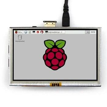 5 inch LCD HDMI Touch Screen Display TFT LCD Panel Module 800*480 for Banana Pi Raspberry Pi 4B Raspberry Pi 3 Model B / B