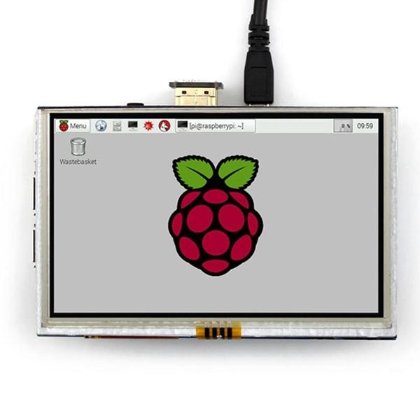 5 pouces LCD HDMI écran tactile affichage TFT LCD panneau Module 800*480 pour banane Pi framboise Pi 4B framboise Pi 3 modèle B/B +