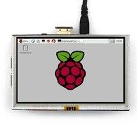 5 pulgadas LCD HDMI pantalla táctil TFT LCD Panel módulo 800*480 para Banana Pi Raspberry Pi 2 Raspberry Pi 3 Modelo B/B +