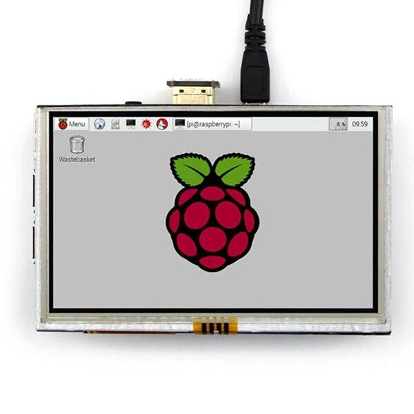 5 pulgadas LCD HDMI pantalla táctil TFT LCD módulo 800*480 para Banana PI frambuesa PI 2 frambuesa PI 3 Modelo B/b +