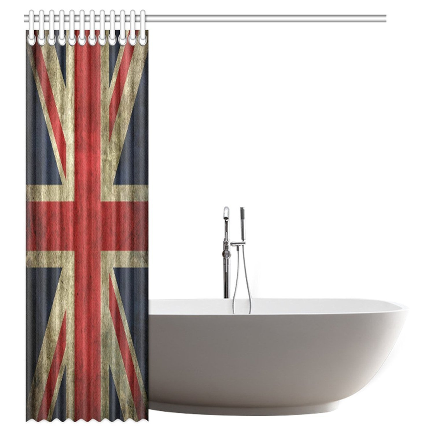 Aplysia Custom Union Jack Waterproof Polyester Fabric 60 W X 72 H Shower Curtain And Hooks In Curtains From Home Garden On Aliexpress