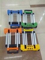 2 16KG Folding Carts Aluminum Alloy Hand Carts Folding Portable Pull Trolley Luggage Trailer Supermarket Shopping