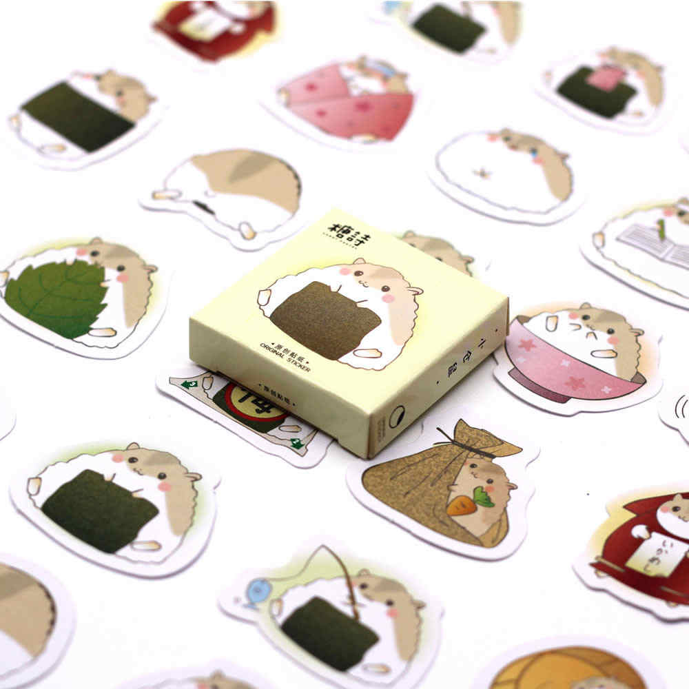 40 Pcs/pack Zongzi Hamster Kpop Sticker Pusheen Cartoon Children Stickers Toys Emoji Notebook Scrapbook For Kids DIY Stickers