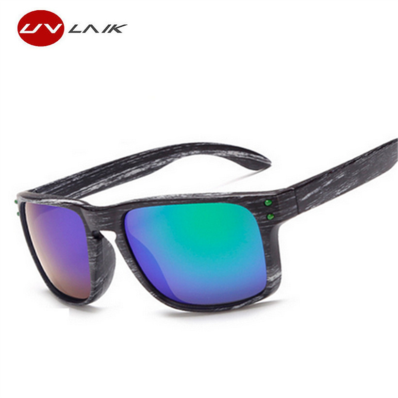 UVLAIK Wood Grain Male Sunglasses UV400 Sun Glasses For Women Retro Men Eye..