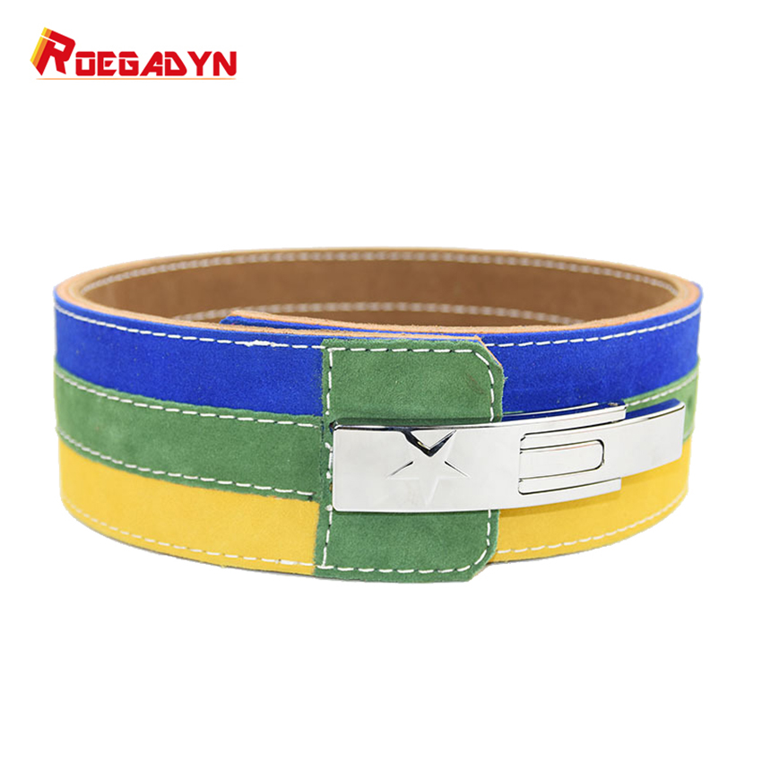 ROEGADYN 10mm Thickness Professional Weightlifting Heavy Weight Squat Training Cowhide Waist Belt for Men and Women