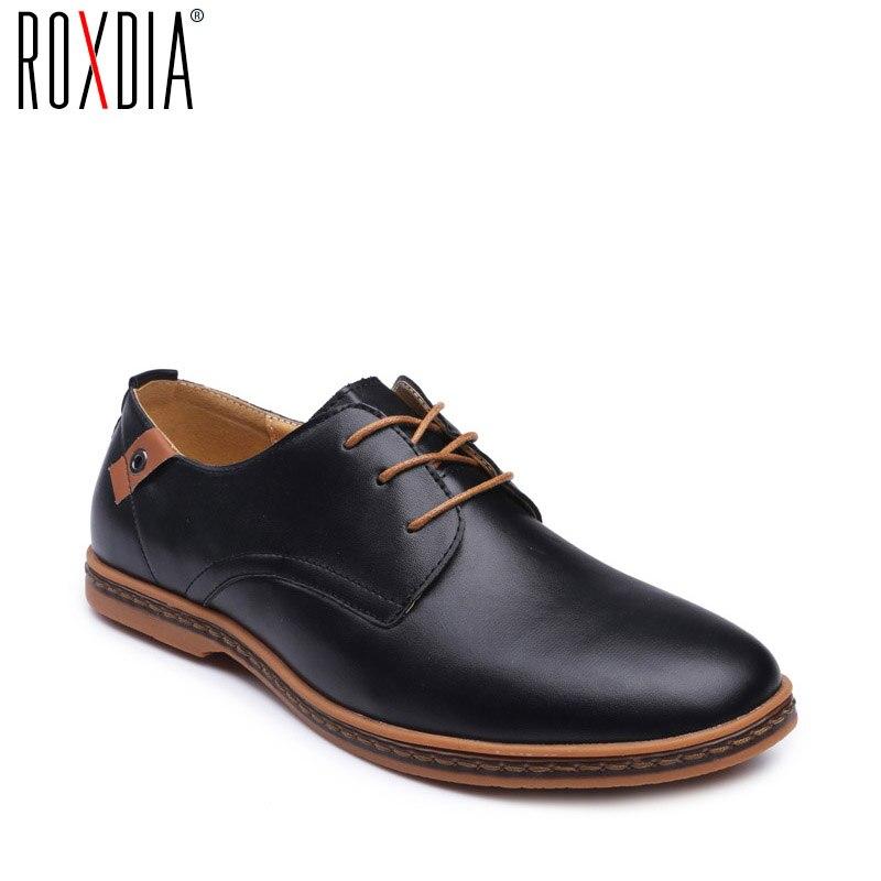 ROXDIA Nouvelle Mode Printemps Automne Hommes Appartements à lacets Casual Chaussures Imperméables Chaussures de Travail Plat Pilote Hommes Plus taille 39-48 RXM936