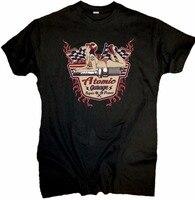 メンズ半袖コットンtシャツ古い学校原子ガレージピンアップ米国車ホットロッドv8 tシャツブラックスタイルtシャ