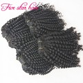 Hot sale malaysian virgin hair 4 bundles Spiral curl Human hair weave bouncy curly virgin hair extensions free shipping