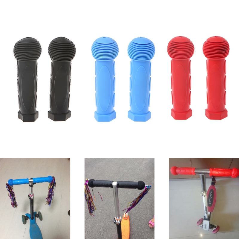 2Pcs Bicycle Handlebar Sleeves Rubber Comfortable Kids Bike Colorful Cover Grips грипсы ethic rubber grips blue