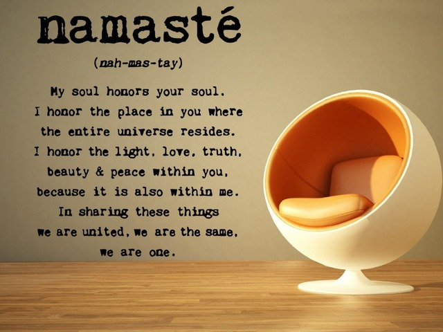 Beau Yoga Mandala Om Indian Buddha Namaste Quote Wall Decal Home Decor Wall  Sticker Home Decoration