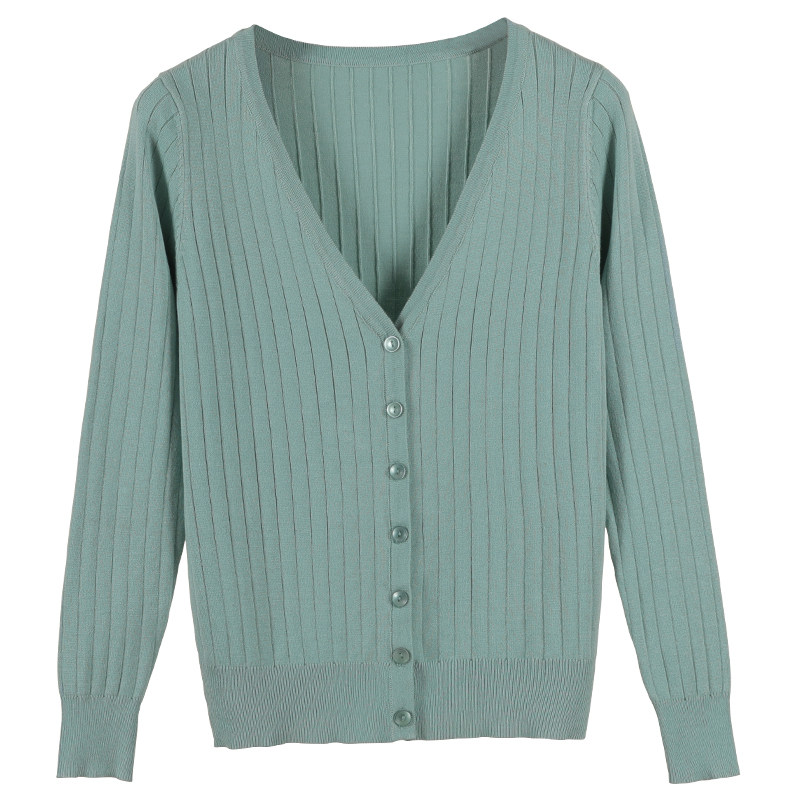 2019 Autumn New Women Knitted Cardigan Fashion V-Neck Long Sleeve Solid Cardigan  Sweater Single 374cd5cdf