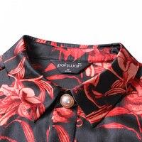 POKWAI Весна 2019 новая рубашка с длинным рукавом для малышей, мальчиков, с длинными рукавами, куртка с лацканами, модное печатное шелковая блузк