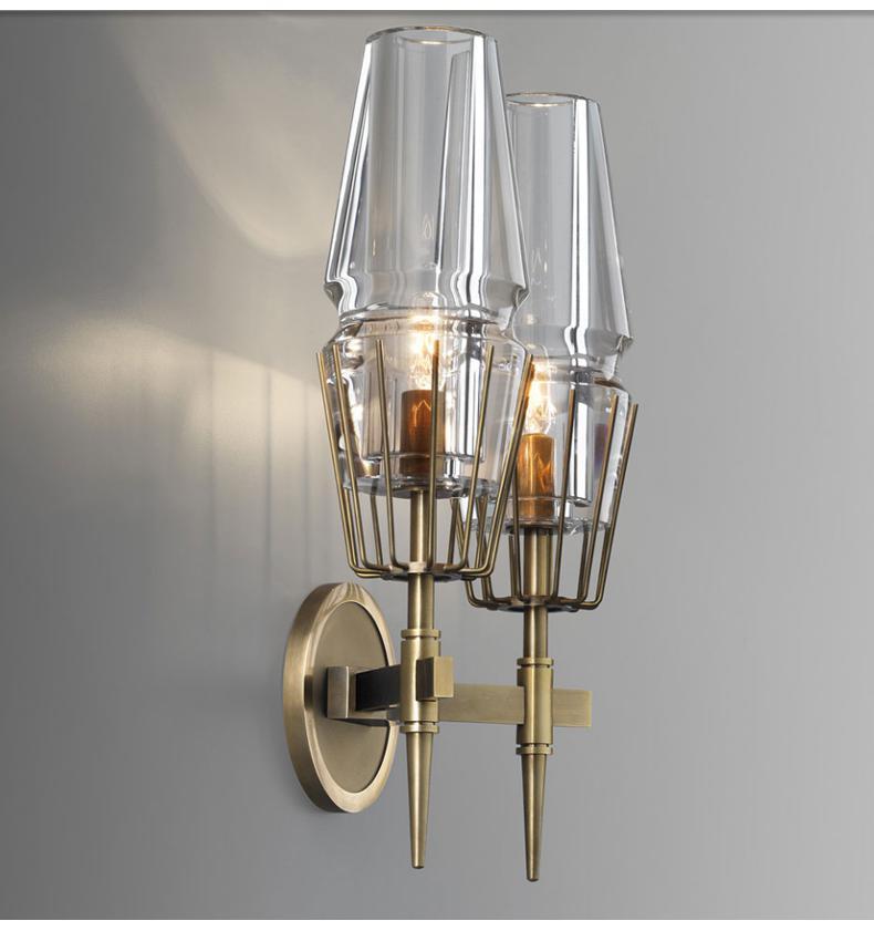Большой Настенный светильник для гостиной со стеклянным абажуром, светильник для виллы и зала E14, Большой Настенный светильник, современный светодиодный светильник для фойе Arandela