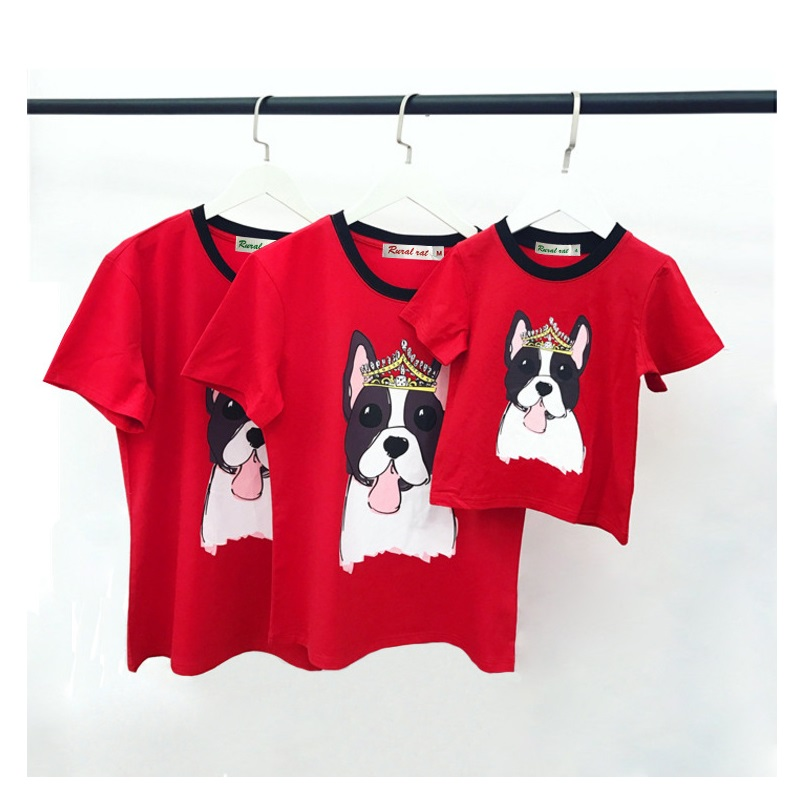 2018 Family Set Pet Dog T shirts Clothes Family Matching Outfits Look Father Mother Kids' T shirt Family Clothing 3XL 4XL TM