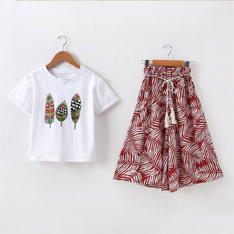 HTB1B3eGc8Gw3KVjSZFwq6zQ2FXac - Summer Baby Girls Clothes Sets Outfits Kids Clothes Short Sleeve +Pants Children Clothing Set 3 4 5 6 7 8 9 10 11 12 Years