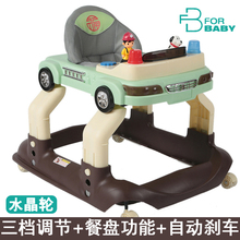 Forbaby Baby Walker Multifunctional Musical Slammed Child Baby Walker