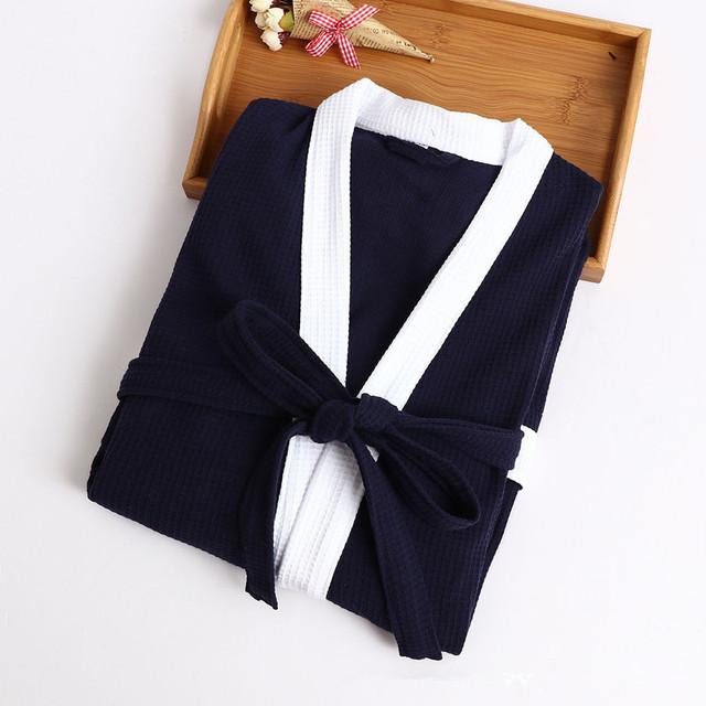 Men's Contrast Trim Cotton Robe