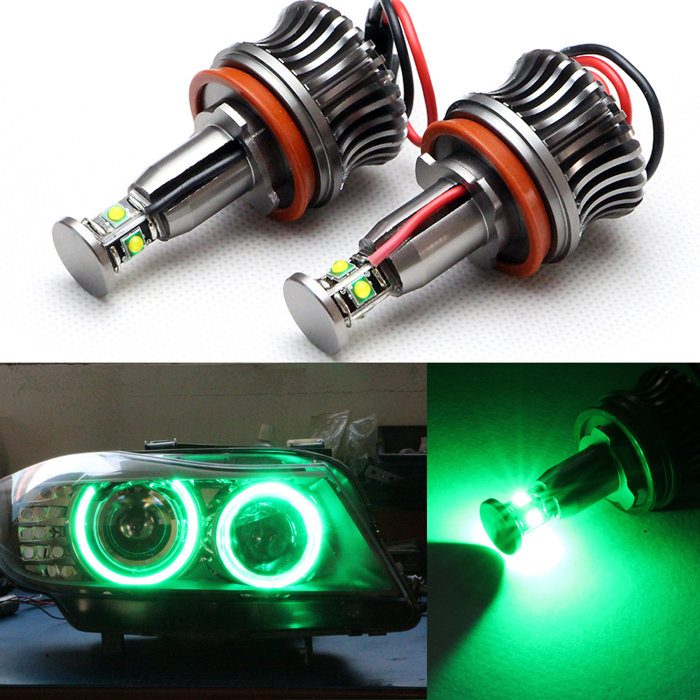 360-Degree Xenon White CREE Chips 20W High Power H8 LED Angel Eyes for BMW E60 E61 E90 E92 E70 E71 E82 E89 1 3 5 Series X5 X6 Z4