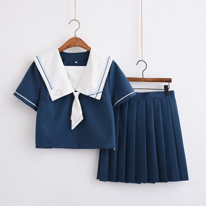 UPHYD manches longues japonais/coréen costume de marin Cosplay Costumes filles mignonnes uniformes d'école étudiant JK ensemble uniforme