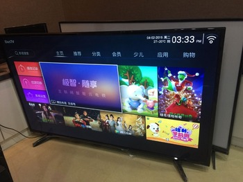OEM 43 49 55 inch Full HD Smart TV set android lan/wifi T2 global version led television TV