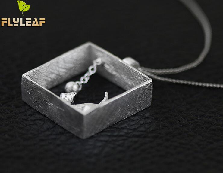 Flyleaf 100% 925 Sterling sølv katte halskæder & vedhæng til - Mode smykker - Foto 4