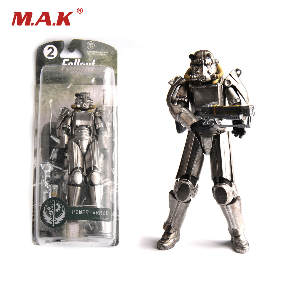 Two Colors Fallout 4 PVC Action Figure 8 Power Armor Out of Clothing Toys Gifts Collections Displays Brinquedos
