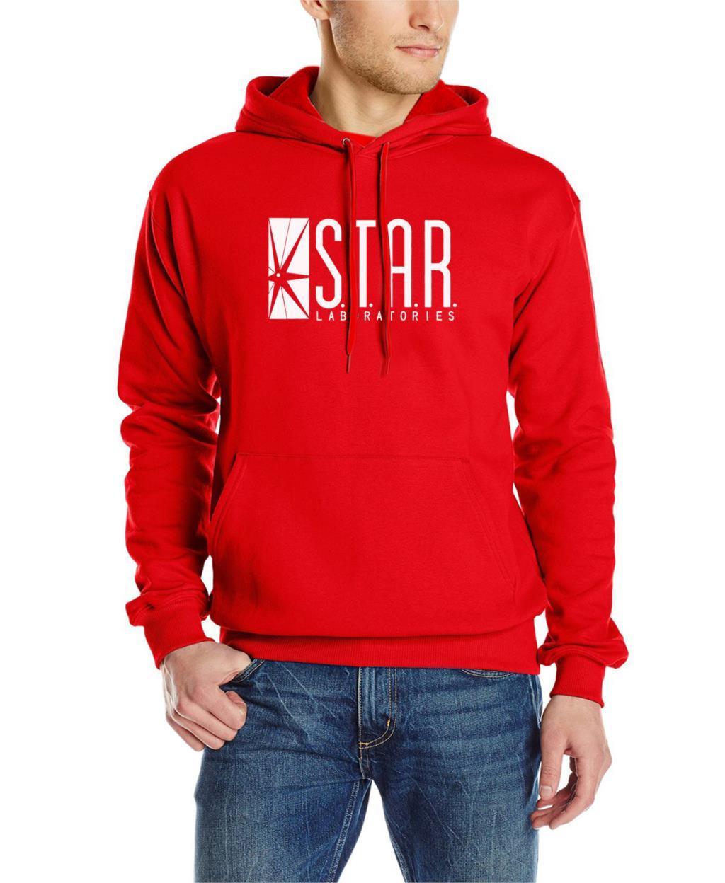 autumn brand hoodies superman series men hoody STAR S.T.A.R.labs jumper the flash gotham city comic books black sweatshirt 6