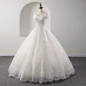 Image 3 - Fansmile yeni lüks Vintage kaliteli dantel düğün elbisesi 2020 balo prenses gelin gelinlikler Vestido De Noiva FSM 557F