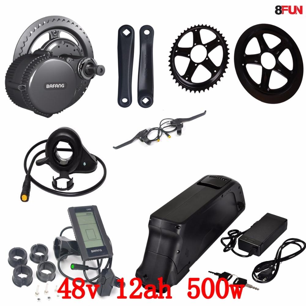 48V 500W Bafang BBS02 vidējā piedziņas elektromotora komplekts + - Riteņbraukšana