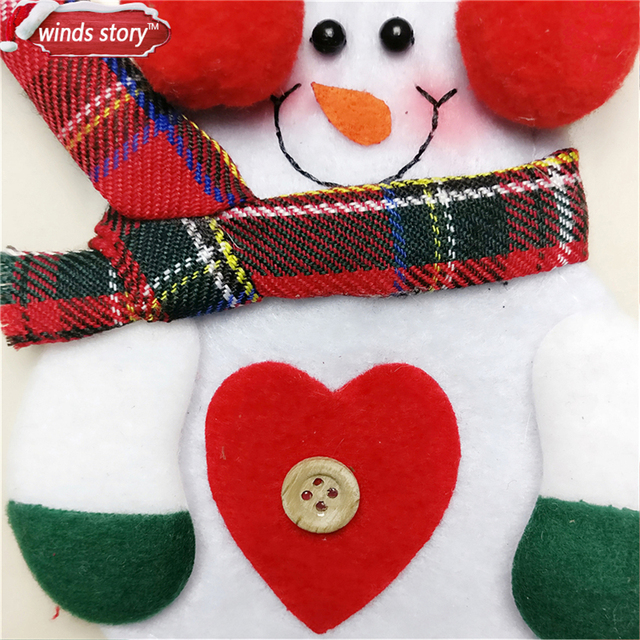Christmas Decorations Snowman Kitchen Tableware Holder bag 12pcs Party gift Xmas ornament Christmas decorations for home table 3