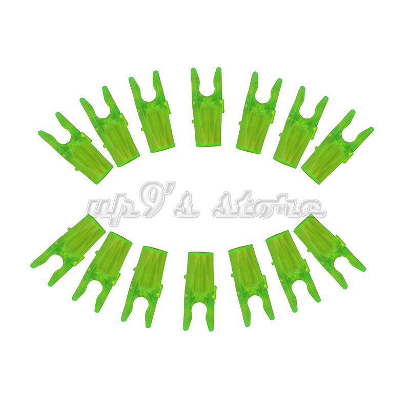 500pcs Transparent Green ID 3 2mm Pin Nock L Size for Archery Arrow Nock Outdoor Hunting