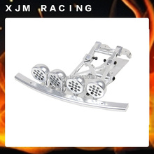 CNC Alloy Front Bumper set and LED light pod fit HPI Rovan Baja 5T 5SC king motor truck Free shipping