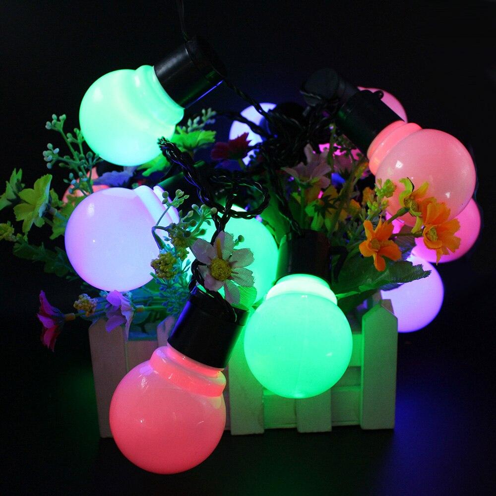 String Ball Light Fairy String Led 10M  Light 2.5M Garland 220V 110V Outdoor Wedding LED Led 5CM Christmas Big Garland 45