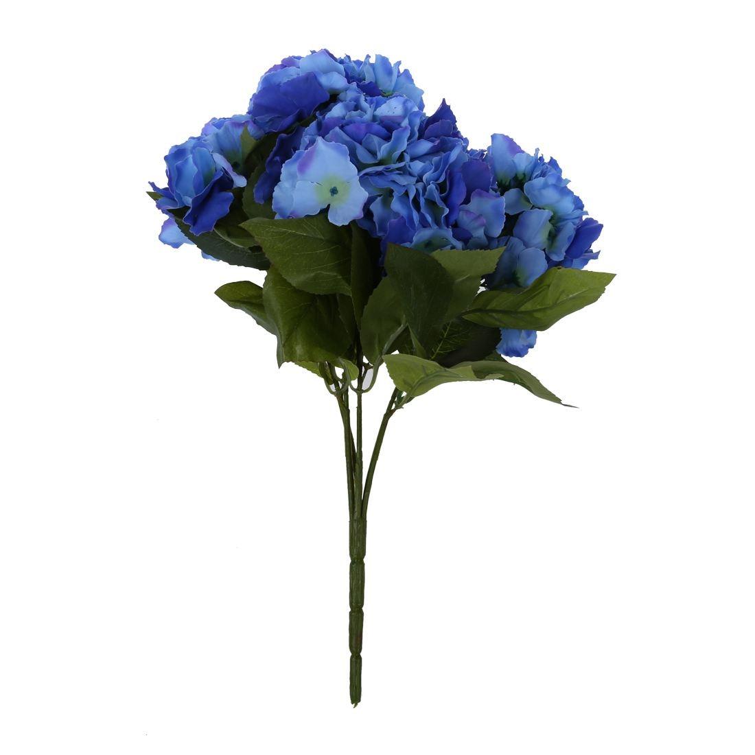 Artificial Hydrangea 5 Flower Heads Bouquet Wedding Garden