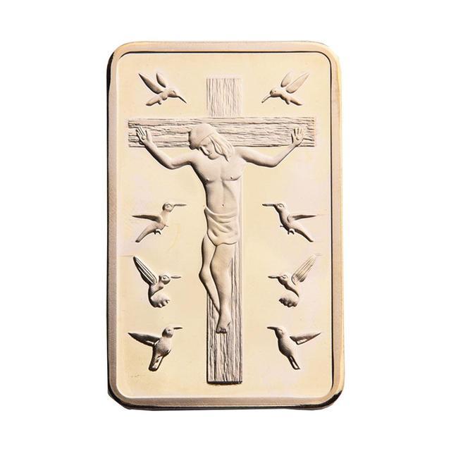 Soledi Batangan Bar Souvenir Yesus Emas Dekorasi Souvenir Koin Film
