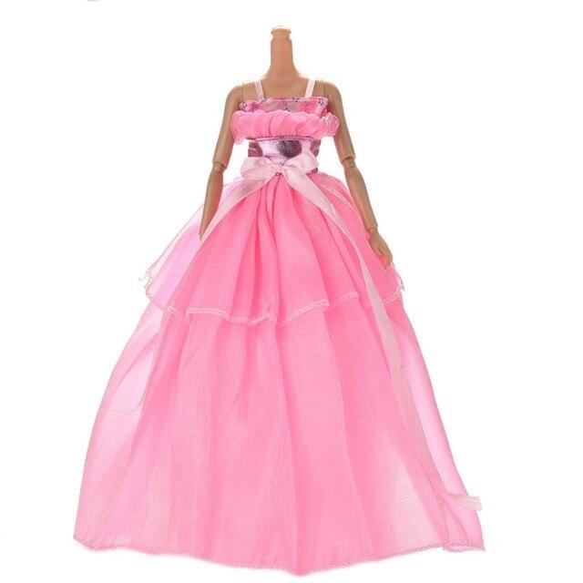 1 stück handgefertigte puppe langen kleid kleidung rose hochzeit ...