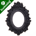 2013-2014 30*40MM Oval Resin cameo setting,Black;for 30*40mm Cabochon/Picture/Cameo;sold 20pcs per pkg