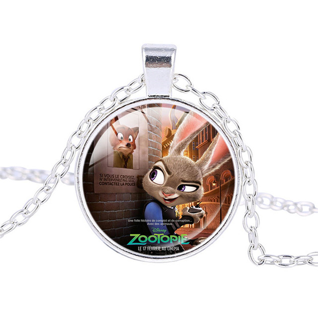 Zootopia necklace the fox nick and the police bunny rabbit judy zootopia necklace the fox nick and the police bunny rabbit judy animals pendants for kids christmas aloadofball Images
