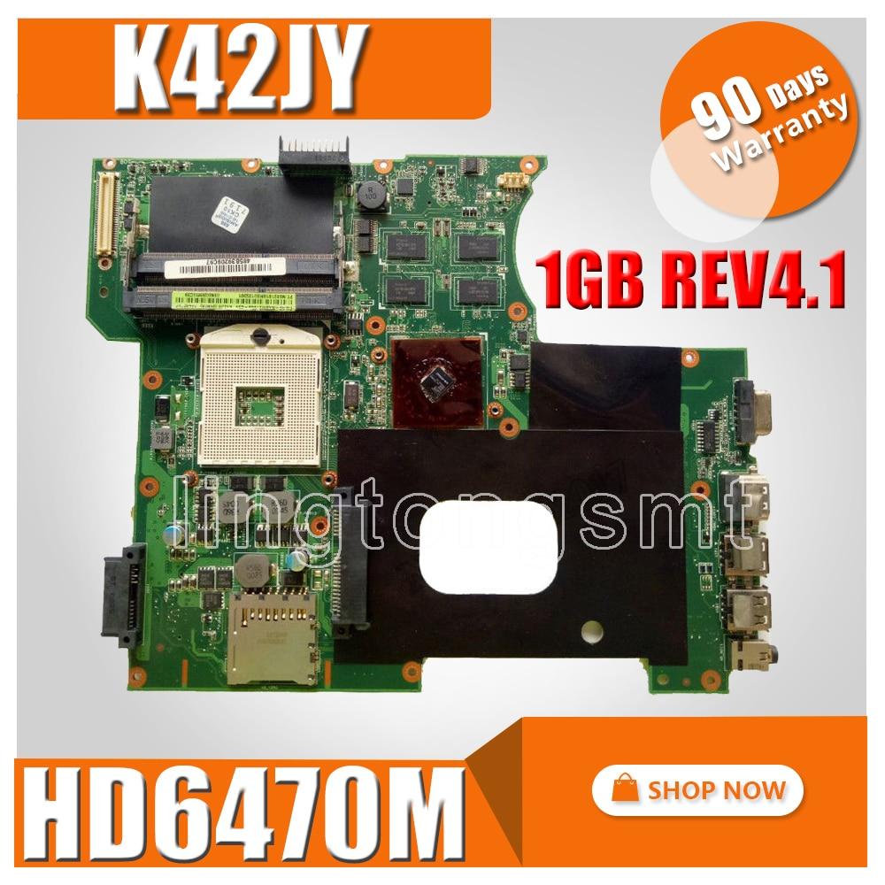 K42JY Motherboard HD6470M 1GB REV4.1 For ASUS X42J A42J K42J Laptop motherboard K42JY Mainboard K42JY Motherboard test 100% OK цена
