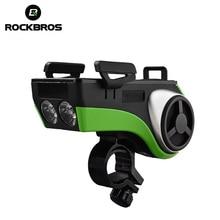 ROCKBROS MTB Bike Bicycle Light Waterproof Phone Holder Bluetooth Audio MP3 Player Speaker 4400mAh Power Bank Ring Bell