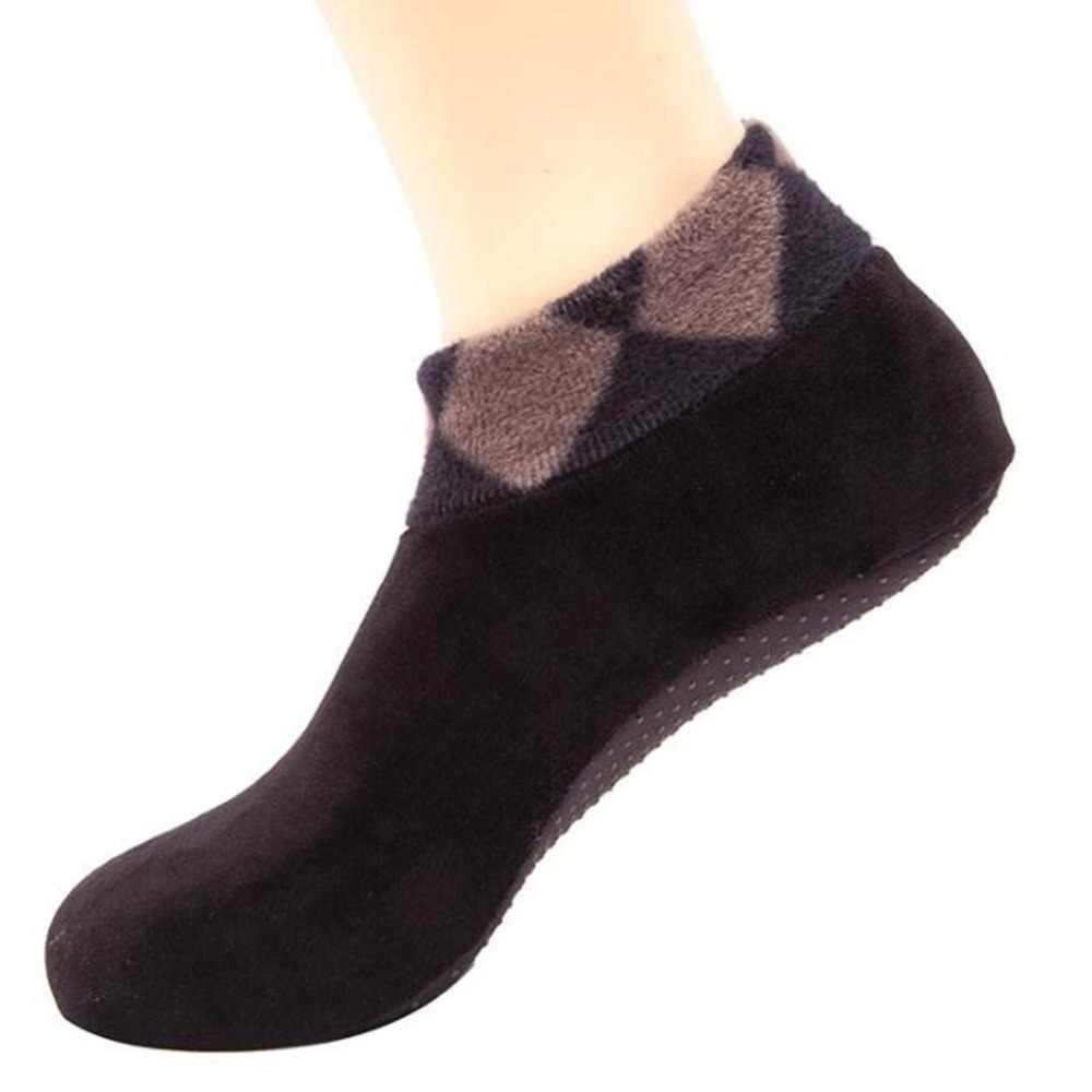 ฤดูหนาวหนาถุงเท้าลื่น Unisex ผู้ชายผู้หญิงฝ้ายถุงเท้าอุ่นถุงเท้า Boot หิมะอุ่น Sokken calcetines