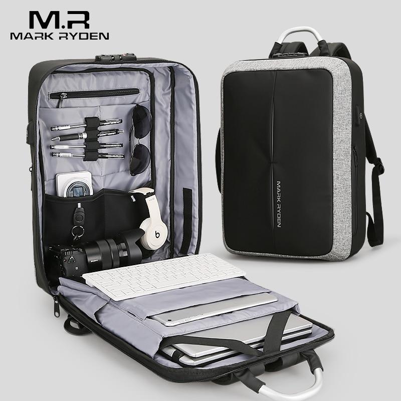 2018 Mark Ryden Новый Анти-Вор USB для подзарядки мужской рюкзак без ключа TSA замок дизайн мужской бизнес мода рюкзак с посланием путешествия