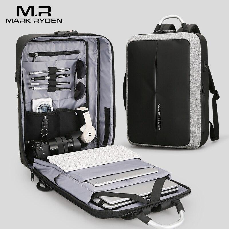 2018 Марка Райден Новый Анти-Вор USB для подзарядки Для мужчин рюкзак никакой ключ TSA замок Дизайн Для мужчин Бизнес мода сообщение рюкзак дорожная