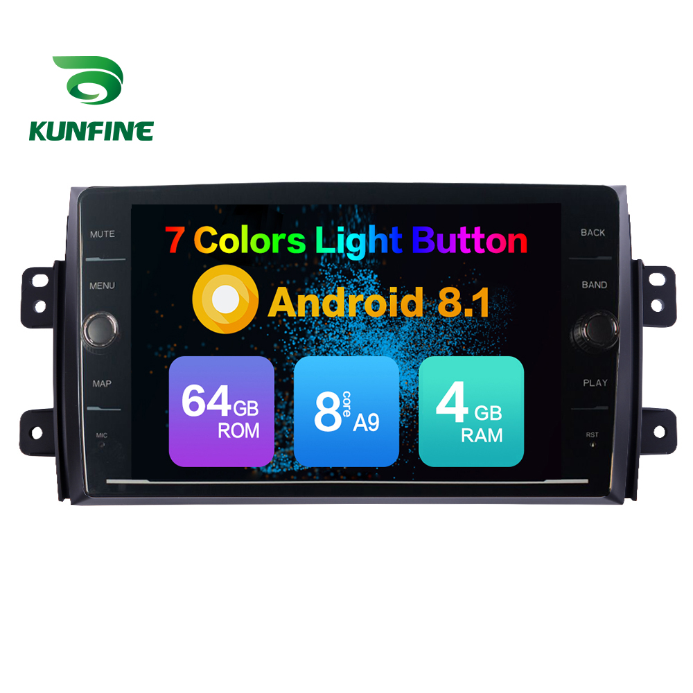 Octa Core ROM 64GB <font><b>Android</b></font> 8.1 Car DVD GPS Navigation Player Deckless Car Stereo for <font><b>SUZUKI</b></font> <font><b>SX4</b></font> 2006 2007 <font><b>2008</b></font> 2009 2010 2011 image