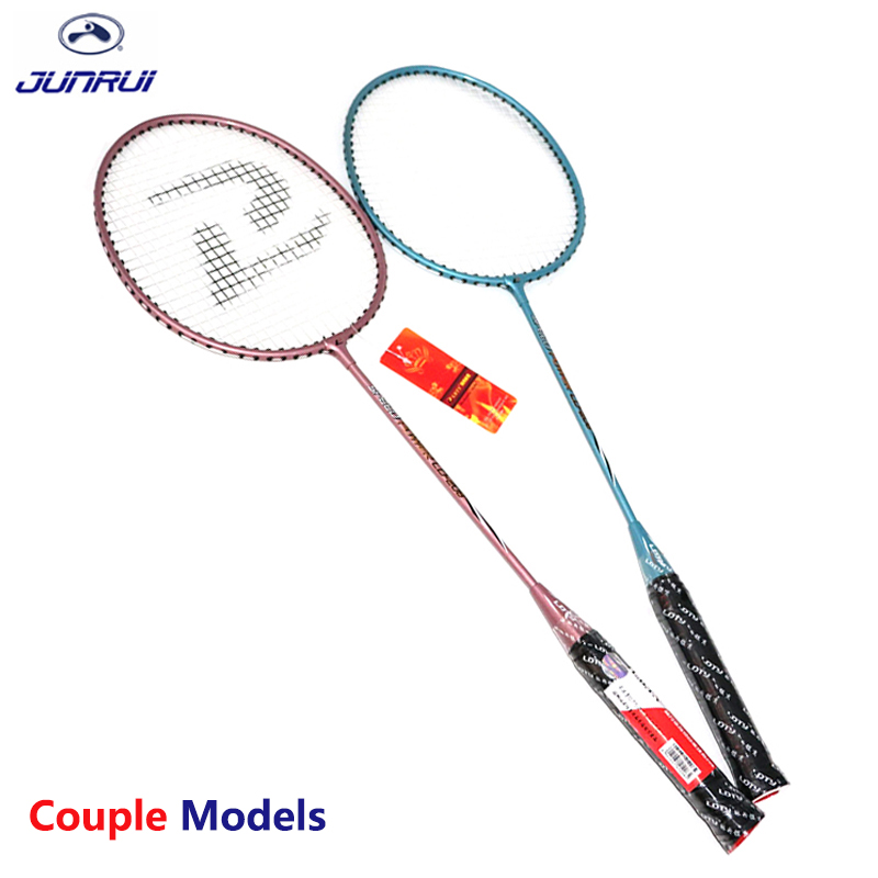 JUNRUI models100% Original Full Carbon Badminton Racket Raquette Light Weight Carbon Sports Suit for Beginners 1 pair