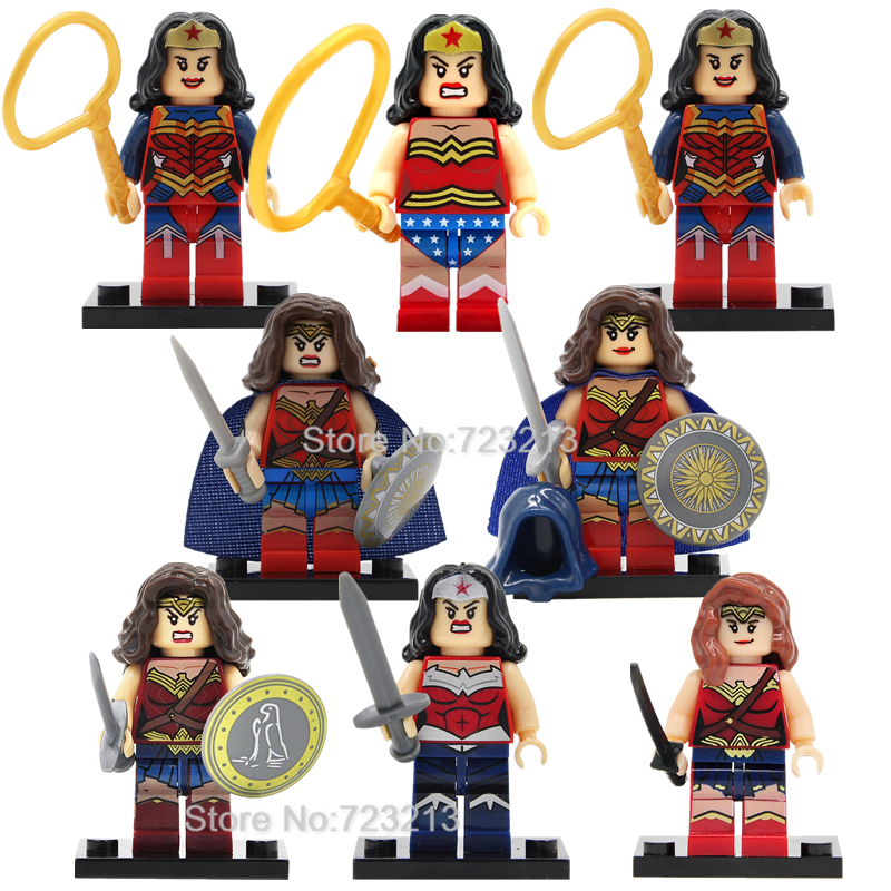Wonder Woman Figure Diana Princess Single Sale Super Heroine Hero Building Blocks Set Model Bricks Toys for Children chewell лакомство для собак мелких пород нарезка из говядины уп 60г