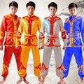 Мужчины Танец Льва Барабан Танец Костюм Мужской Yangko Танцевальные Китайский Народный Танец Одежда Китайский Народный Костюм